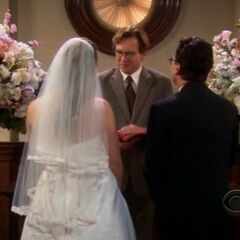 Penny's dream - she and Leonard get married.