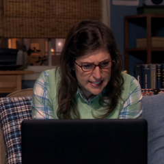 Amy can't read Sheldon's cryptic email.