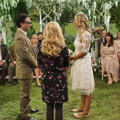 Renewing their vows in front of family and friends.