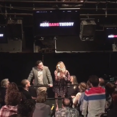 Kaley and Jim's final thanking of the studio audience - season 9.