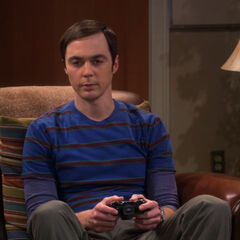 Sheldon looking miserable about his situation with Amy.
