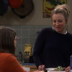 Penny seeing Sheldon's seduction.