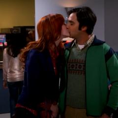 Emily-Raj kiss.