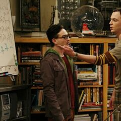 Sheldon telling Leonard what he thinks about his calculations.