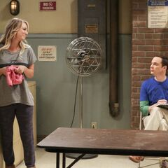 Sheldon listening to Penny.