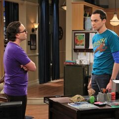 Leonard arguing with Sheldon.