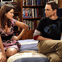 Sheldon reacting to Missy's threat.