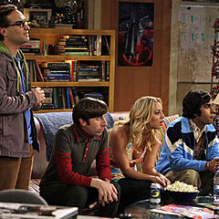 Fascinated by Sheldon's date.