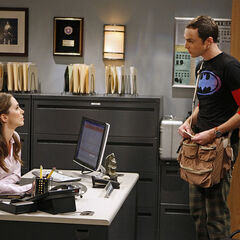 Sheldon visiting FBI agent Page.