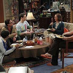 Sheldon's mother having dinner in 4A.