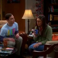 Sheldon begs Amy to let him off the hook.