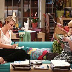 Bernie helping Penny study.