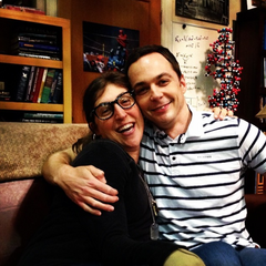 Mayim and Jim in