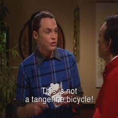 Sheldon trying to speak Mandarin.