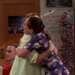 Mary's welcome hug for Penny.