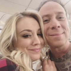 Kaley and Kevin - last episode taping.