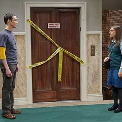 Amy alone with Sheldon.