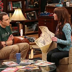 Alex showing Sheldon Amy's gift options.