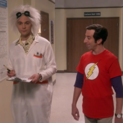Sheldon greets Sheldon.