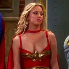 Penny as Wonder Woman.