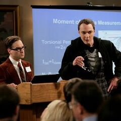 Sheldon rebuking Leonard's speech.