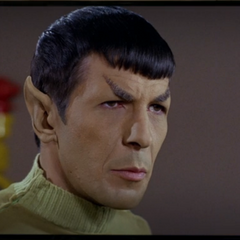 Spock in the second pilot. Sheldon is watching.