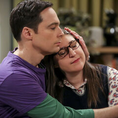 Sheldon calming Amy.
