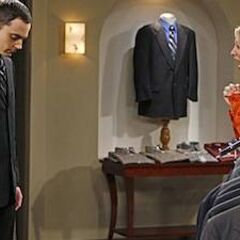 Penny loves Sheldon's suit.