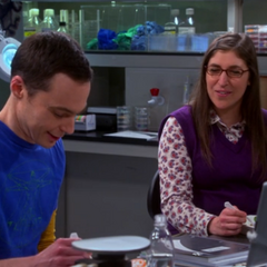Sheldon has a science joke.