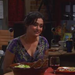 Lalshmi Choudry having dinner with Raj.