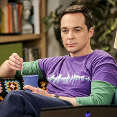 Sheldon is calm.