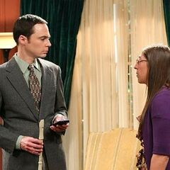 Amy is embarrassed for Sheldon.