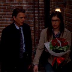 Amy ends up with the flowers.