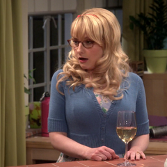 A really shocked Bernadette after Sheldon tells her and Penny about planning on having sex with Amy.