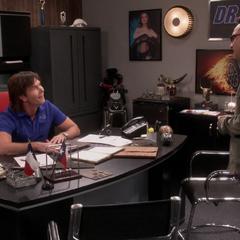 Leonard discussing their Sheldon.