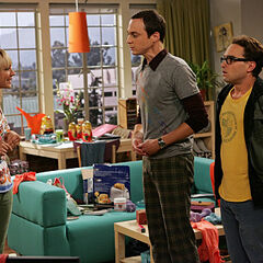 Sheldon's first visit to Penny's apartment.