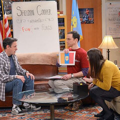 Barry, Sheldon, and Amy playing fwag, not a fwag
