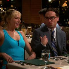 Leonard's annoying date.