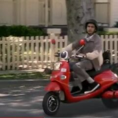 Raj drives by shocked.