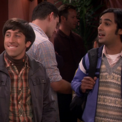 Howard and Raj in line at the movies.