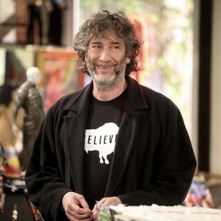 Neil Gaiman dropping in on the store.