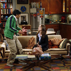 Raj is questioned by the FBI in the comfort of his apartment.