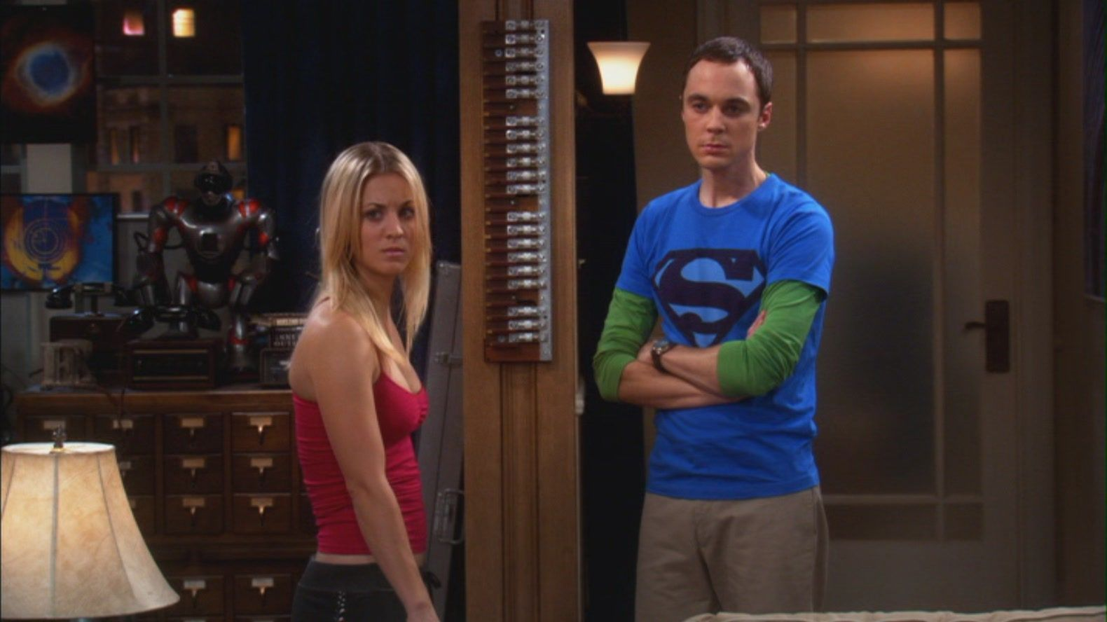 Image result for penny and sheldon fight