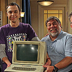 Steve Wozniak, Jim Parsons and TBBT creators.