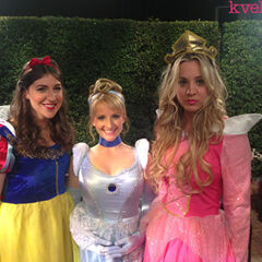 The girls dressed up at Disneyland as Disney Princesses.