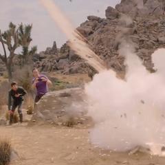 Rocket explodes!
