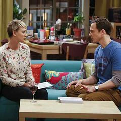 Sheldon talking intimacy with Penny.