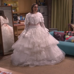 Amy's dress that Sheldon sees.BH10.png|Would like some champagne?