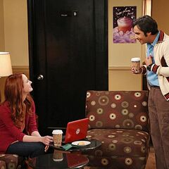 Raj accidentally meeting Emily.