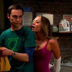 Fantasy Penny seducing Sheldon.